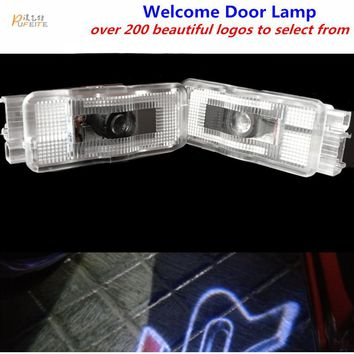 2/pcs Door logo light projector wireless Ghost Shadow welcome laser lamp For Peugeot 508 408 308 3008 4008 5008 CRZ lamp sticker