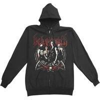 Behemoth Men's  Reaper Zippered Hooded Sweatshirt Black Rockabilia