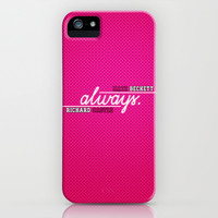 Castle (TV Show) Quotes | Always: Pink iPhone & iPod Case by Sandi Panda