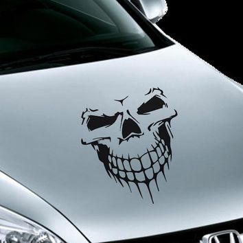 40*36CM Big Size Skull Head Car Stickers Accessories Vinyl Funny Decoration Cartoon Auto Truck SUV Reflective Decal and Stickers