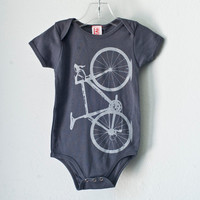 Vital bicycle Infant one piece gray bike size 612 mo by vital