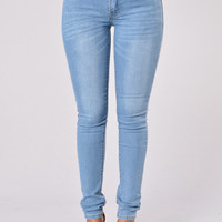 His Favorite Jeans - Medium Blue
