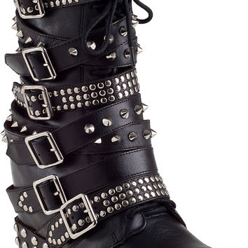 Jeffrey Campbell Draco-Stud Ankle Boot Black Leather  - Jildor Shoes, Since 1949