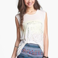 Lush 'Hologram' Graphic Muscle Tank (Juniors) | Nordstrom