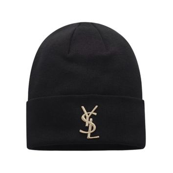The New YSL Embroidery Warm Woolen knitted Beanies Hat