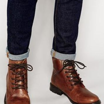 Jack & Jones | Jack & Jones Leather Warm Lining Boots at ASOS