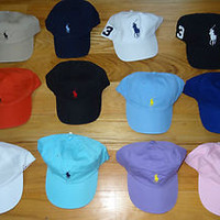 NWT New Polo Ralph Lauren Adjustable Baseball Cap Hat Assorted Colors 1 Size