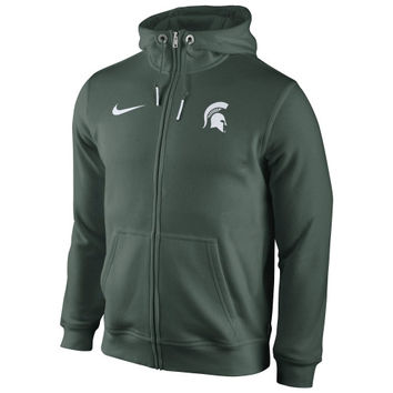 Michigan State Spartans Nike Icon Club Full Zip Hoodie – Green