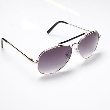 Aviator Sunglasses With Black Accents | Wet Seal