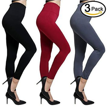 QUXIANG Fleece Lined Leggings For Women High Waist Compression Elastic and Slimming