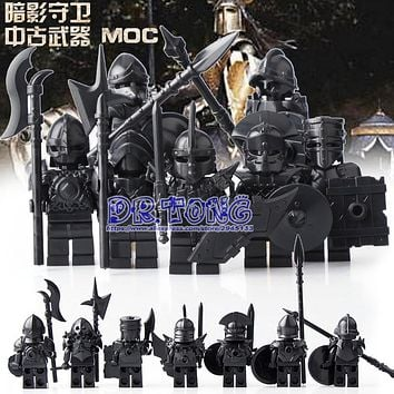 DR.TONG 7pcs Medieval Castle Knights The Hobbits The Lord of the Rings Figures with Armor Weapon Building Blocks Brick Toys Gift