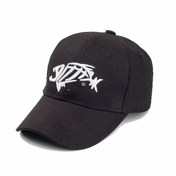 SWTN New hat man sunshade sun fish bones embroidered cap adjustable hat fishing hook high quality fashion baseball cap