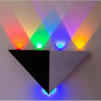 Led Wall Lamp 4W 5W Aluminum Triangle 220V Wall Light For Bedroom Home Lighting Luminaire Bathroom Light Fixture LED Wall Sconce