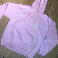 Pink Anti Social Social Club Know You Better Hoodie