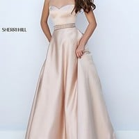 Long Illusion Sweetheart Halter Sherri Hill Prom Dress