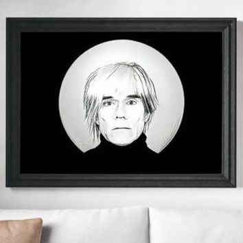 Andy Warhol Poster Pop Art Print Canvas Print -Ships Free
