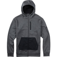 Burton: Hemlock Bonded Full-Zip Hoodie - True Black Heather