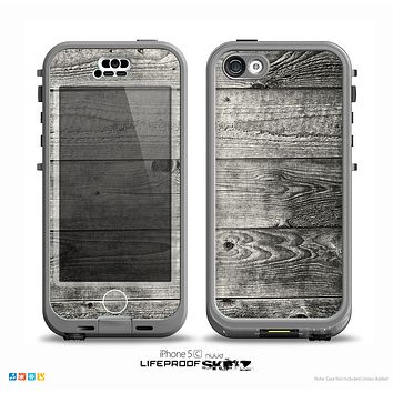 The Dark Washed Wood Planks Skin for the iPhone 5c nüüd LifeProof Case
