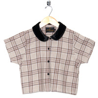 Motel Vintage Andy Blouse Full Check 0016 ONE SIZE