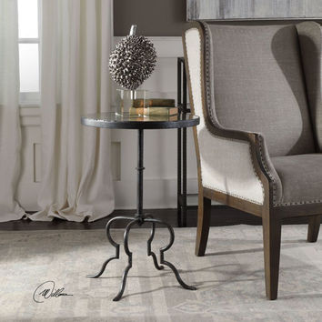 Uttermost Janine Aged Black Accent Table On SALE
