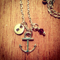 "Custom ""I Refuse to Sink"" Necklace w/ Initial"