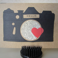 Stationary Note Card Set Vintage Camera With Heart