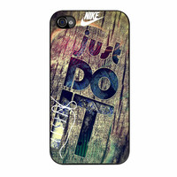 Nike Just Do It Wood iPhone 4 Case