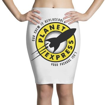 planet express Pencil Skirts