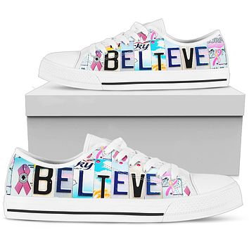 Believe Breast Cancer Awareness Shoes