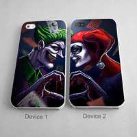 Joker and Harley Quinn Couples Phone Case iPhone 4/4S, 5/5S, 5C Series, iPhone 6, 6plus - Hard Plastic, Rubber Case