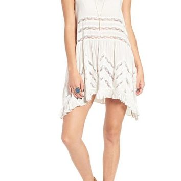 Free People Swingy Lace Inset Tunic | Nordstrom
