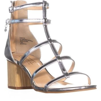 Nanette Nanette Lepore Rebecca Gladiator Dress Sandals, Silver, 7.5 US