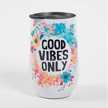 Good Vibes Only Wine Tumbler