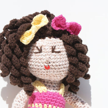 Crochet Doll Amigurumi RESERVED for Christine by pigswife on Etsy