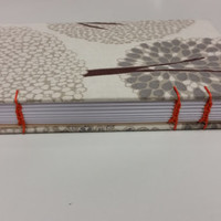 Handmade notebook - forest print cover