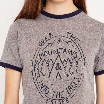 Mountains Ringer Tee - Urban Outfitters