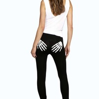 Ruby Glow In The Dark Skeleton Leggings