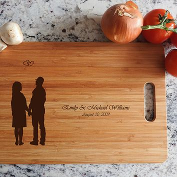 ikb637 Personalized Cutting Board lovers wedding gift anniversary