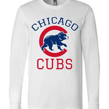 Chicago cubs World series Canvas Long Sleeve T-Shirt