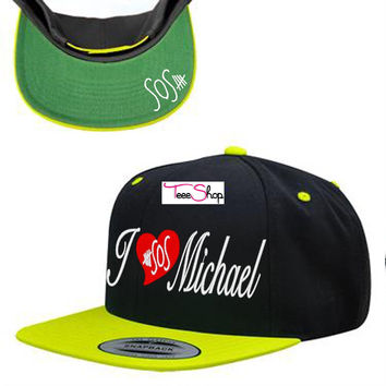 5 Seconds of Summer I love Michael Clifford Snapback Hat