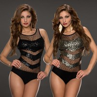 Hot Deal Cute On Sale Sexy Double Color Lace Transparent Sleeveless Exotic Lingerie [6596514371]
