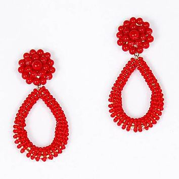Kate Earrings in Red