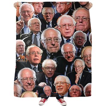 Bernie Sanders Fleece Blanket