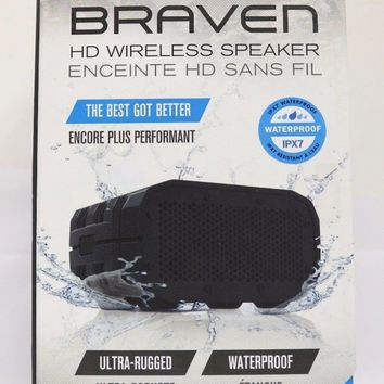 BRAVEN BRV-1s Portable Wireless Bluetooth Speaker - Black