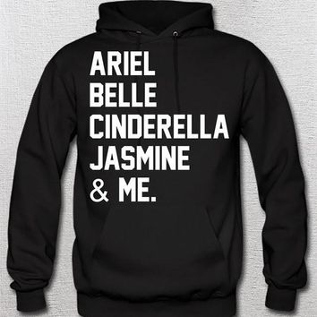 Disney's Ariel Belle Cinderella Jasmine and Me Princess SHIRT, unisex girls womans Disneyland Disney World Princess Pixar White