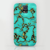Apple iPhone case. iPhone 5 iPhone 5s iPhone 5c iPhone 4 iPhone 4s iPhone 3gs Samsung Galaxy S5 Galaxy S4. Gold Turquoise Texture Phone Case