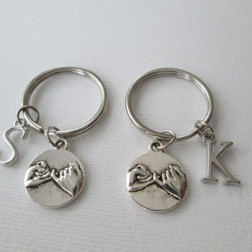 2 Pinky Promise, Initial Best Friends Keychains