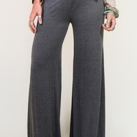 Live In These Palazzo Pants - Charcoal