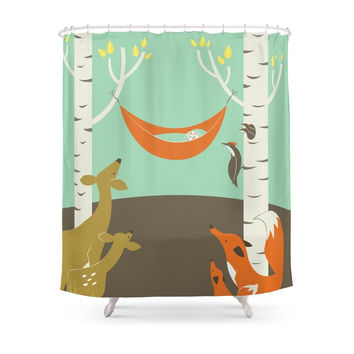 Society6 Woodland Baby Shower Curtains