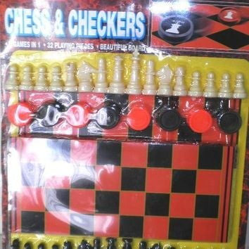 Chess and Checkers Board Game Kit - CASE OF 60